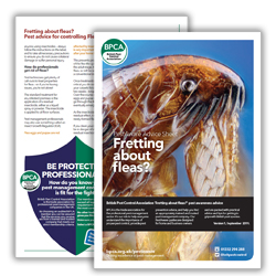 BPCA Fretting about fleas PestAware Advice Sheet icon