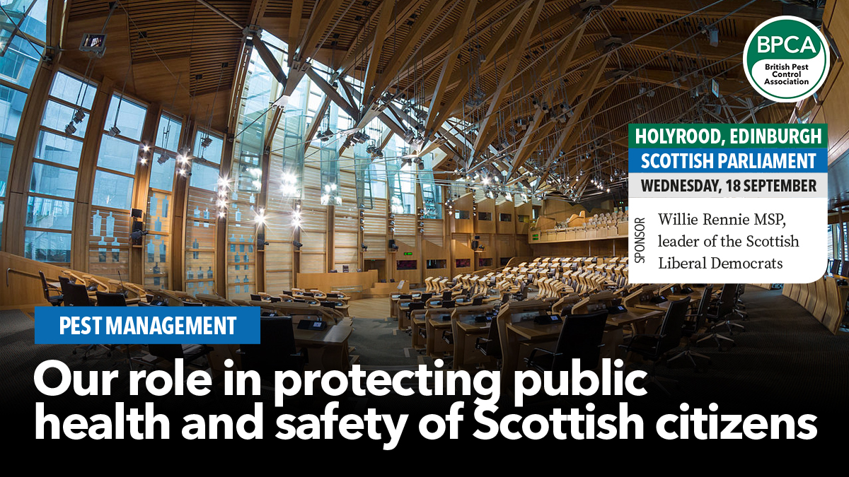 Our role in protecting public Scottish parliment event BPCA