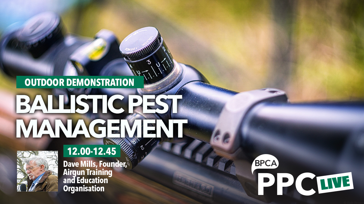 Ballistic pest management talk at PPC Live 2020