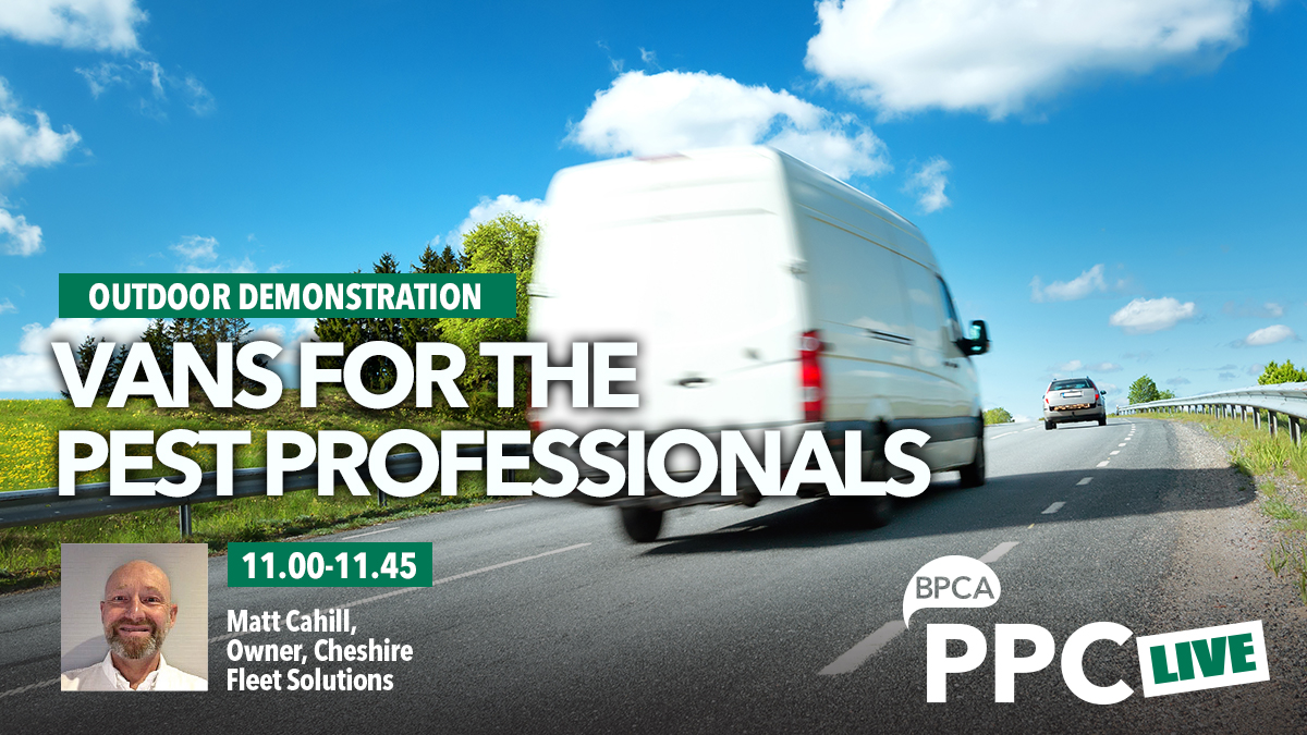 Vans for the pest professionals talk at PPC Live 2020