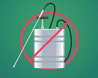Minimal use of pesticides