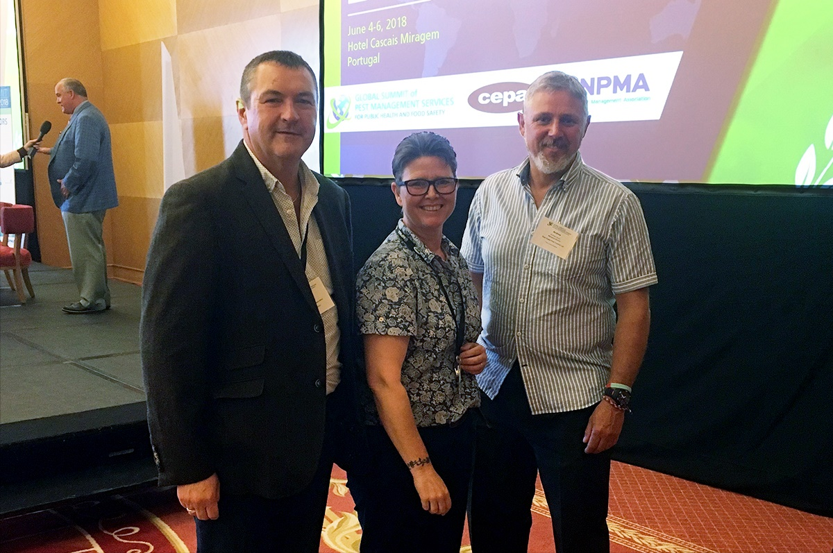 Ian Andrew, Dee Ward-Thompson and Andy Hunn at the Global Summit representing BPCA