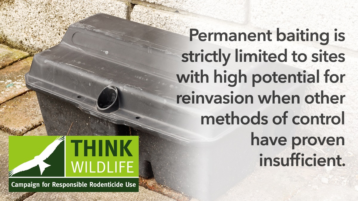 Permanent baiting is strictly limited to sites with high potential for reinvasion