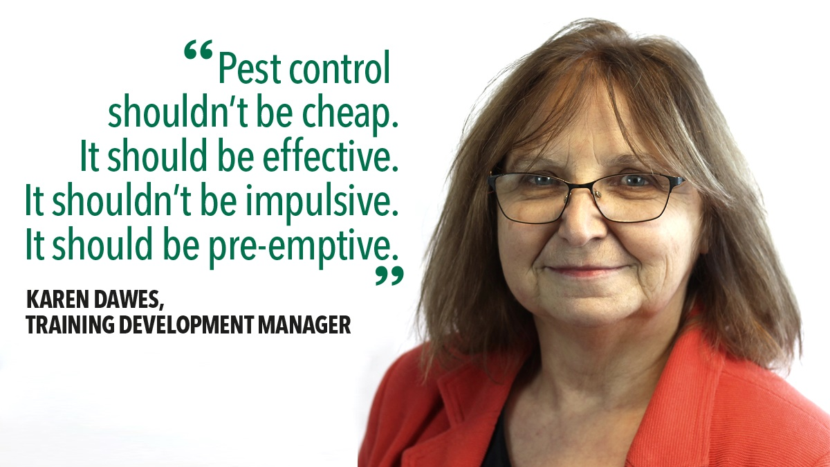 Karen Dawes on pest control