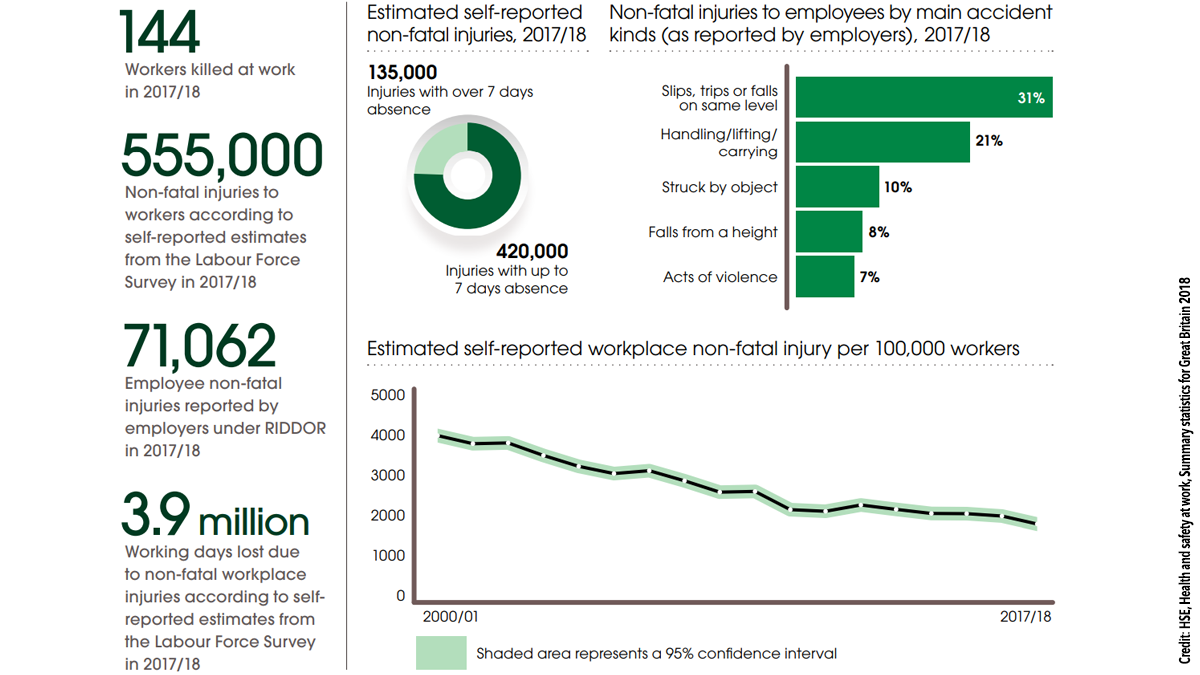 Health and safety at work summary statistics for Great