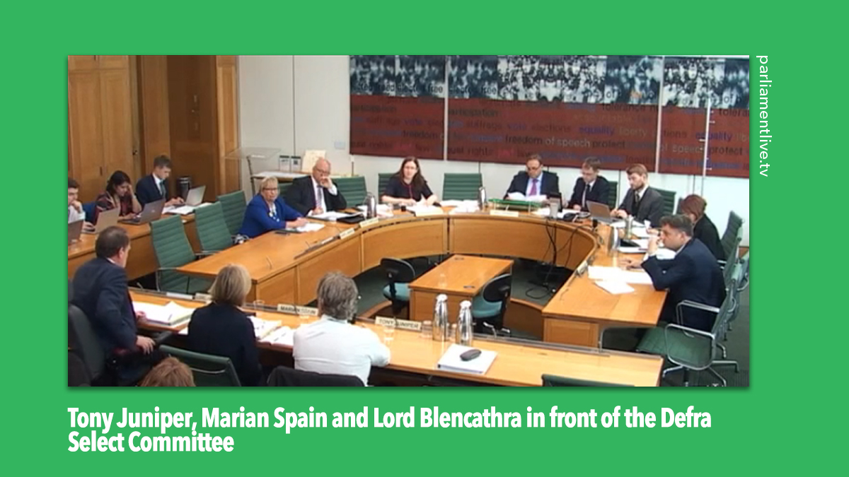 Natural England in front of Defra Select Committee
