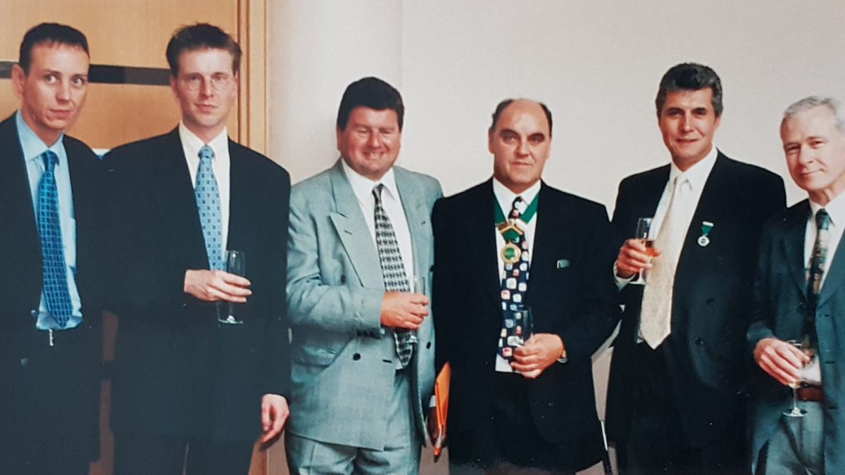 John Kay, second on the right, was held in high esteem throughout the pest control industry