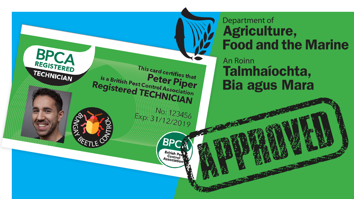 Department of Agriculture, Food and the Marine accepts BPCA Register on Pest Management Trained Professional User