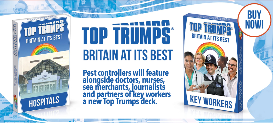 Pest controllers feature in deck of Top Trumps as key workers