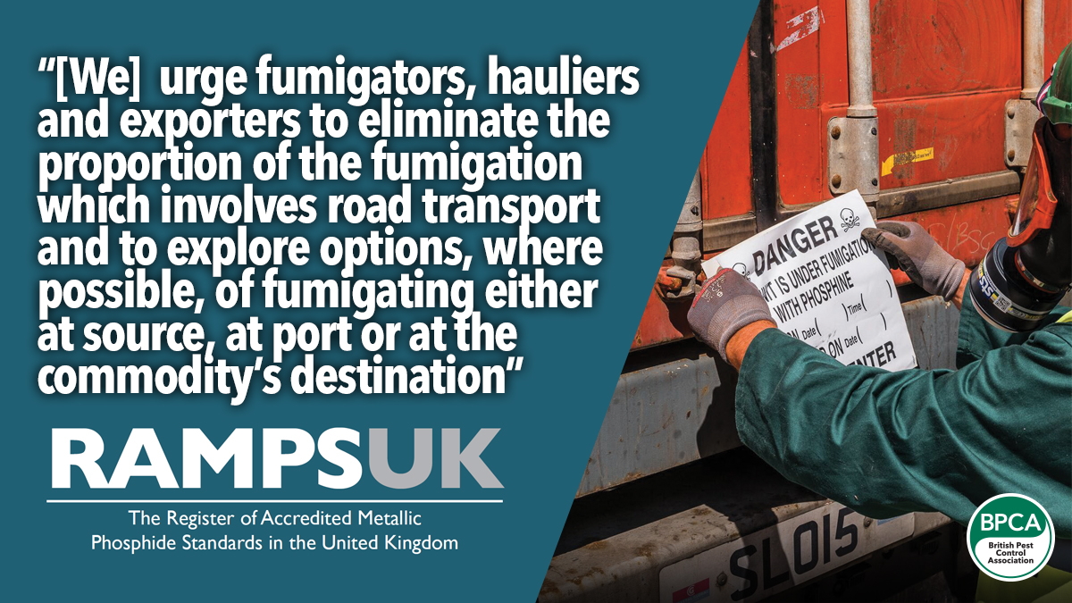 RAMPS UK urges pest controllers to stop fumigating in transit