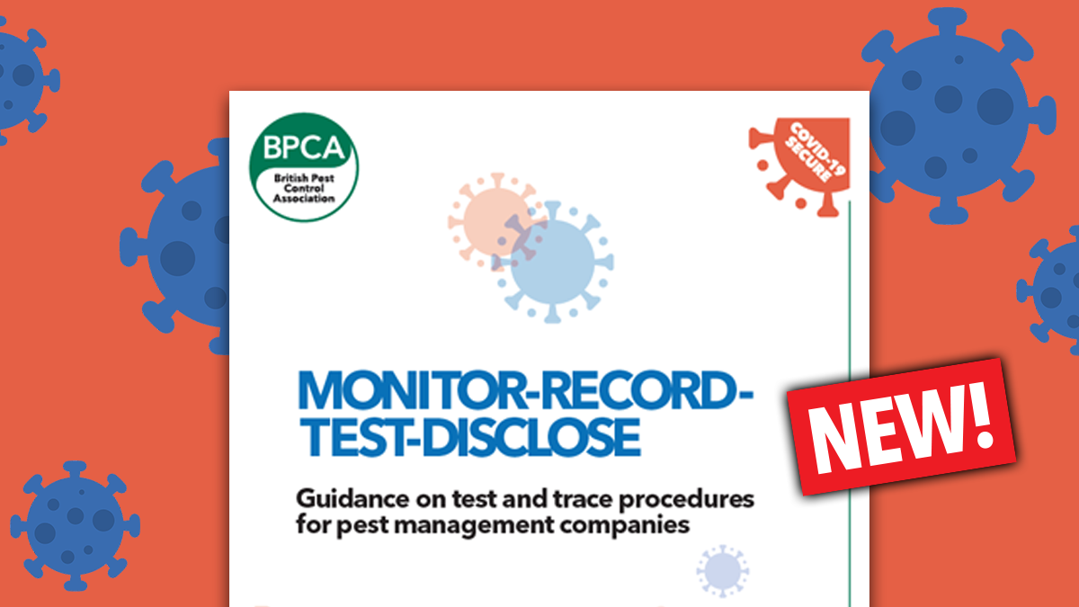 Guidance on test and trace procedures for pest management companies by BPCA Covid 19 guidance