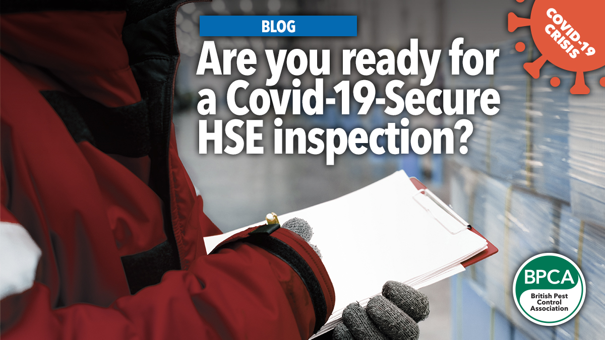 Are you ready for a HSE inspection blog Covid 19 support for pest control