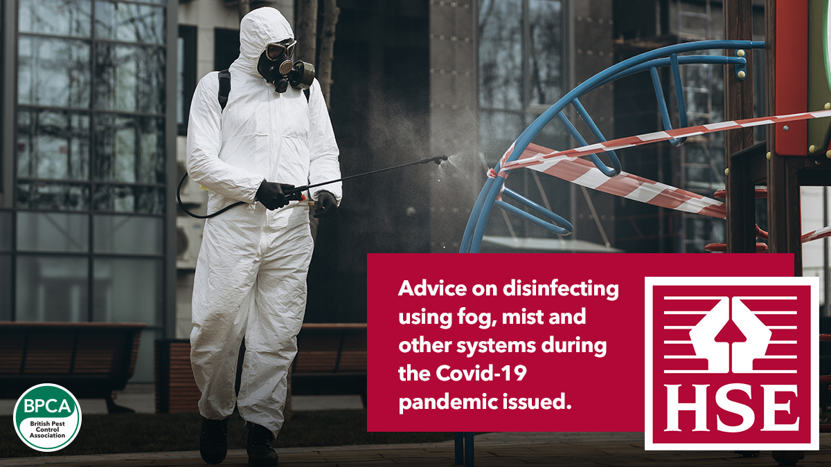 Advice on disinfecting using fog, mist and other systems during the Covid-19 BPCA updated advice for pest control
