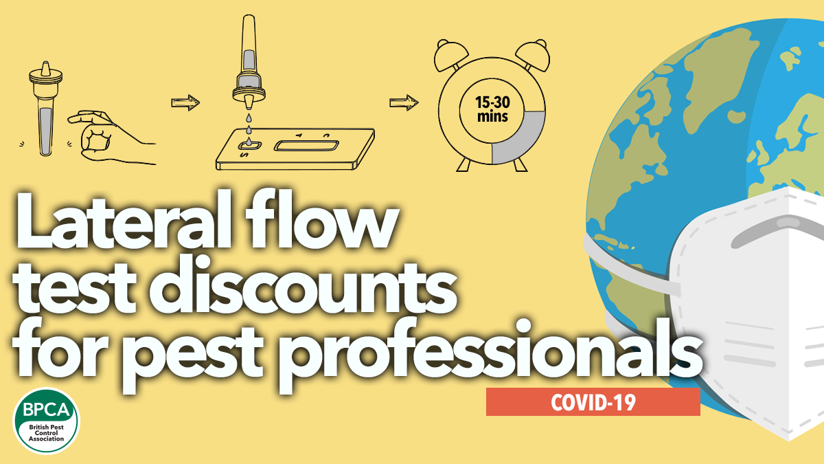 BPCA negotiates Lateral Flow Covid-19 test discounts for pest professionals
