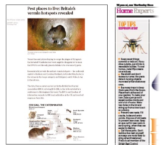 The local authority survey continues to receive attention long after World Pest Day, with further coverage in The Sunday Times on 9 July and other regional press later that month.