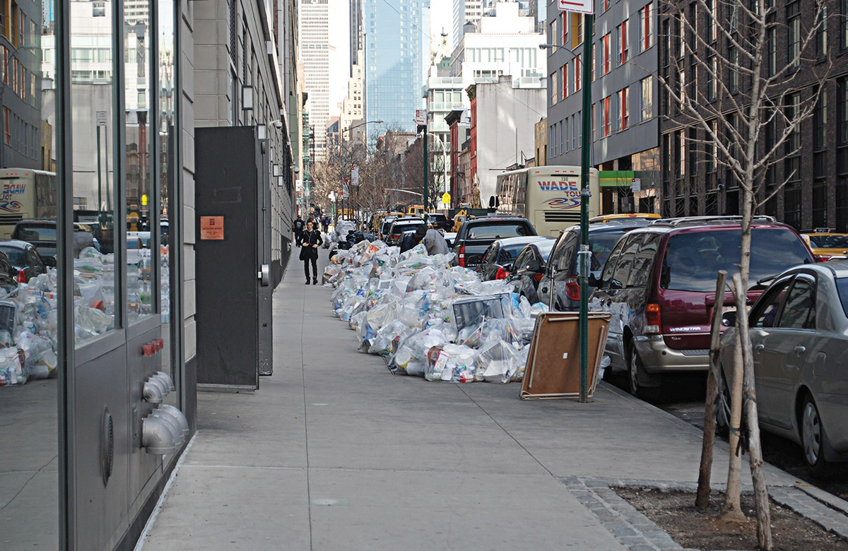 The blind stupor of a city. Even in the day there is rubbish on the street. Every bag contains on average 7kg of possible food – enough to feed more than a hundred rats per day.