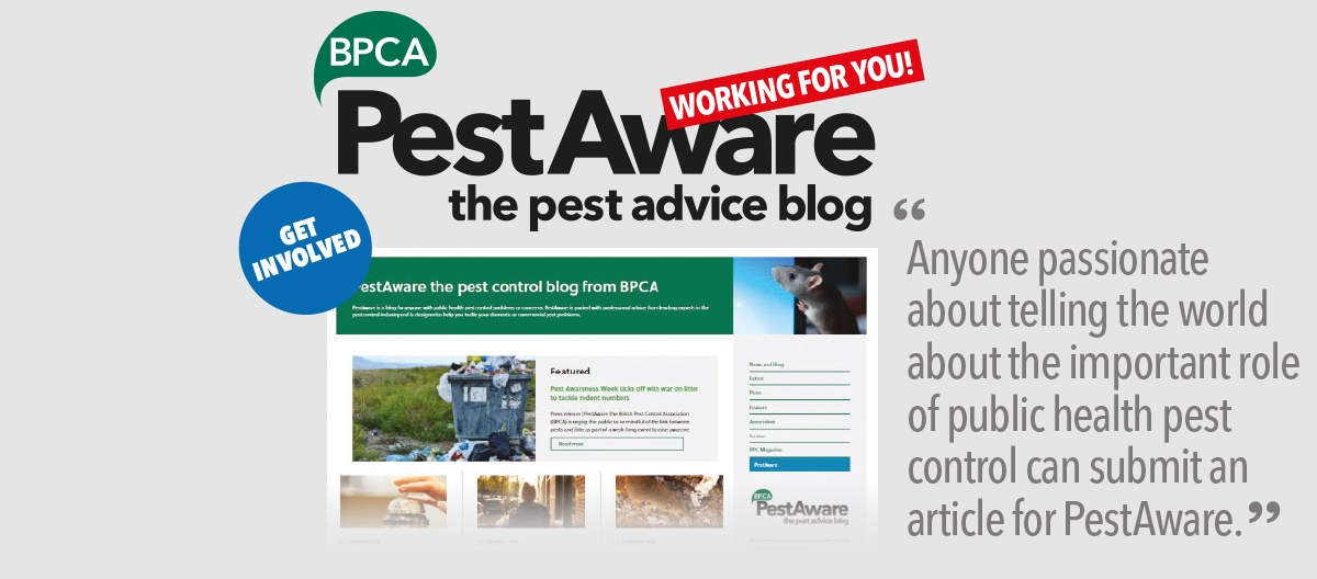 GET INVOLVED: PestAware the pest advice blog - working for you