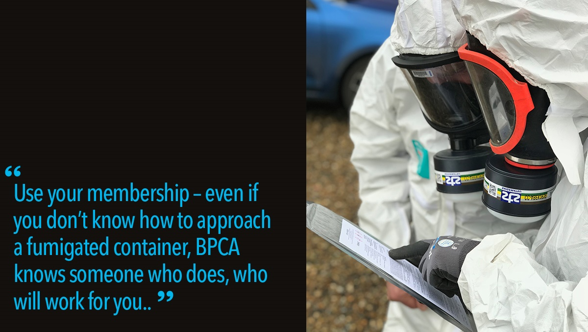Use your BPCA Membership for fumigated containers