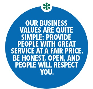 Our business values are quite simple