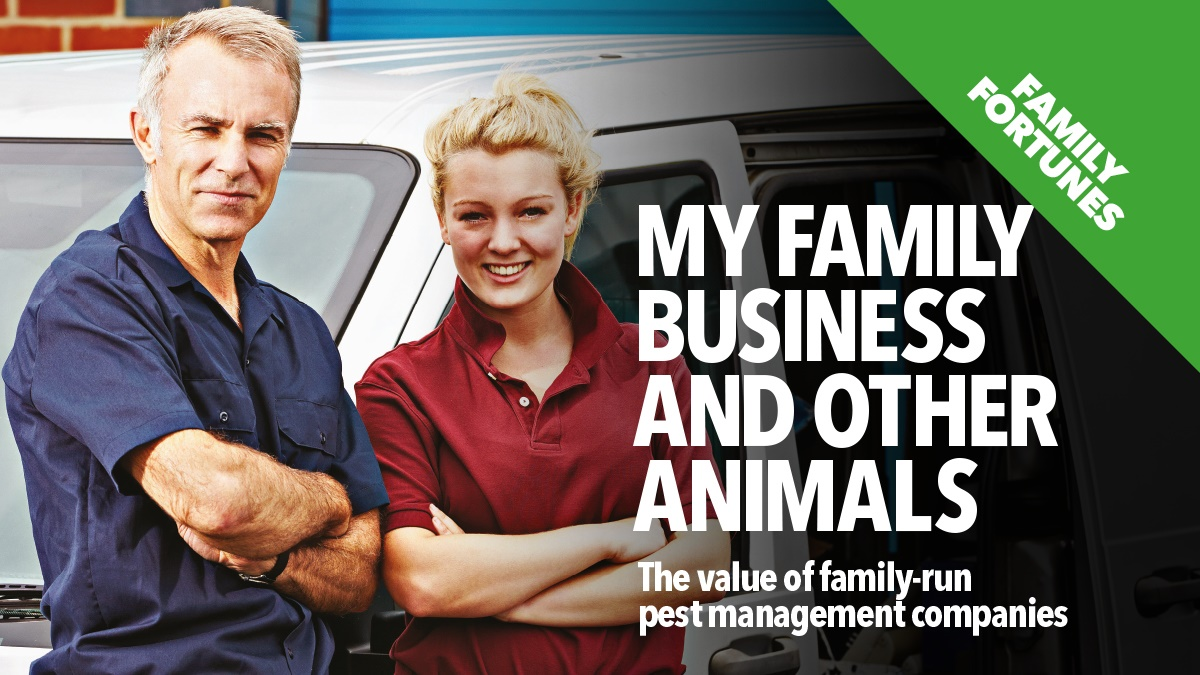 The value of family-run pest control companies
