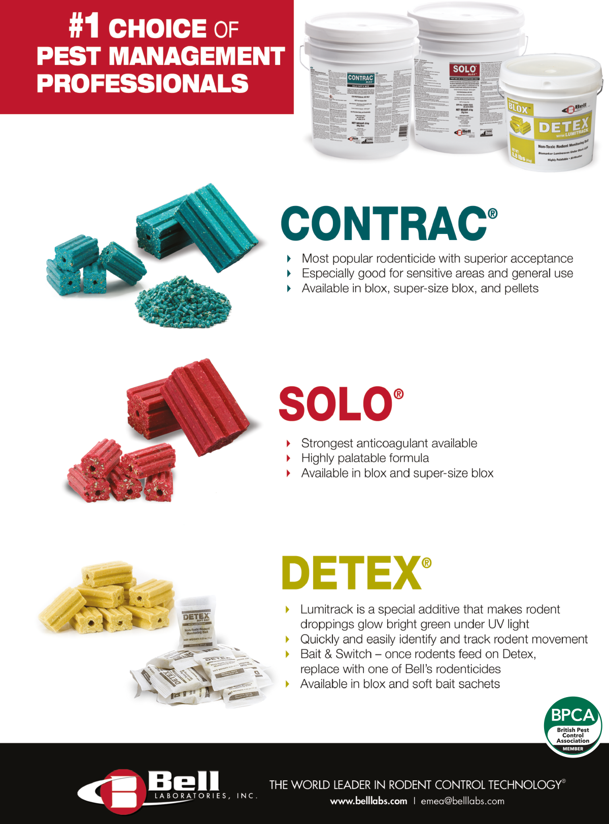 Contrac solo detrex advert from Bell Laboratories