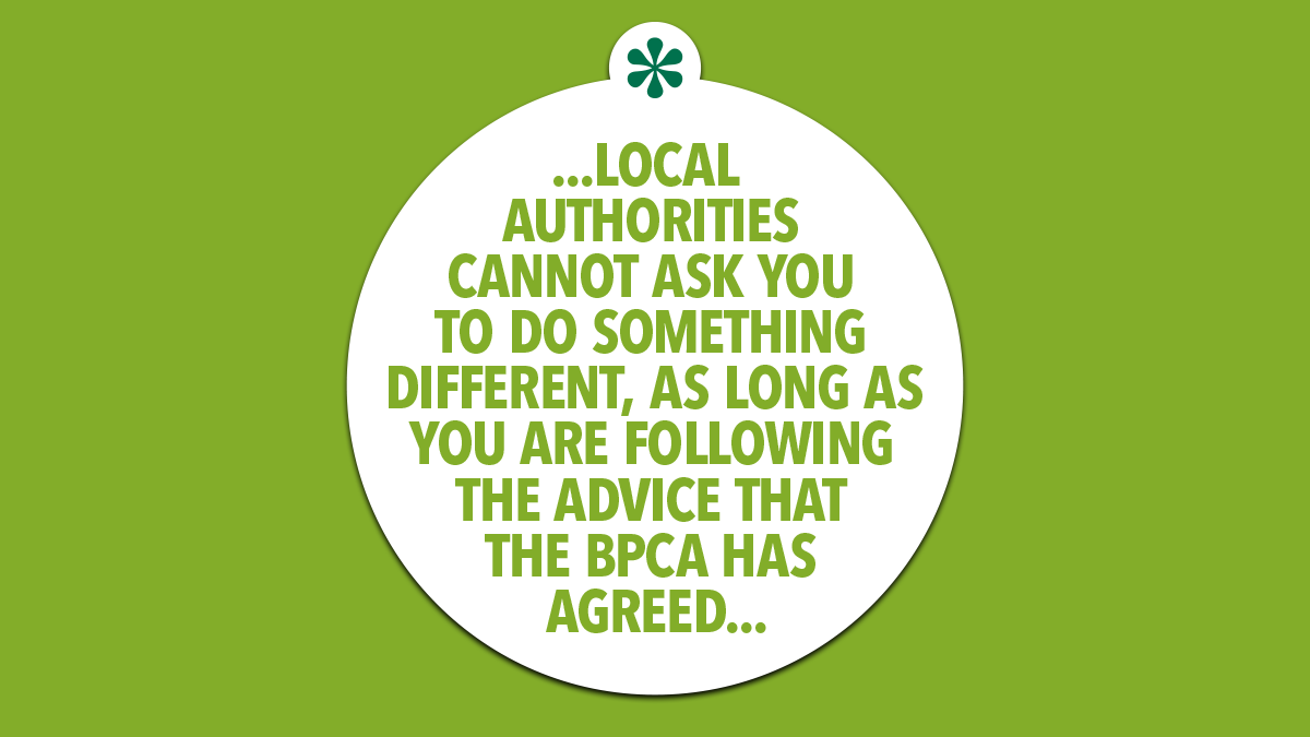 Local authorities cannot ask you to do something