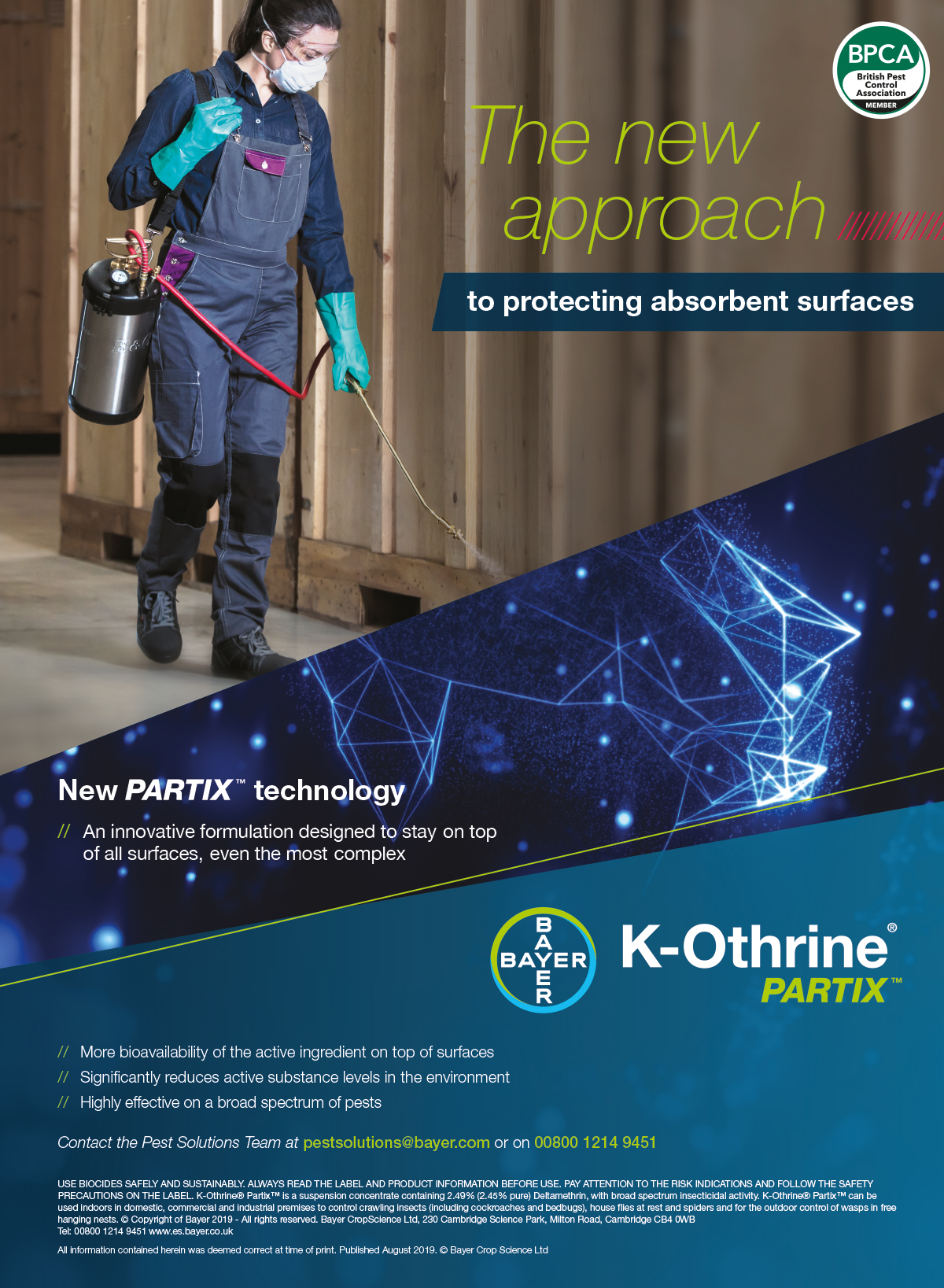 Bayer K-othrine Partix advert PPC96