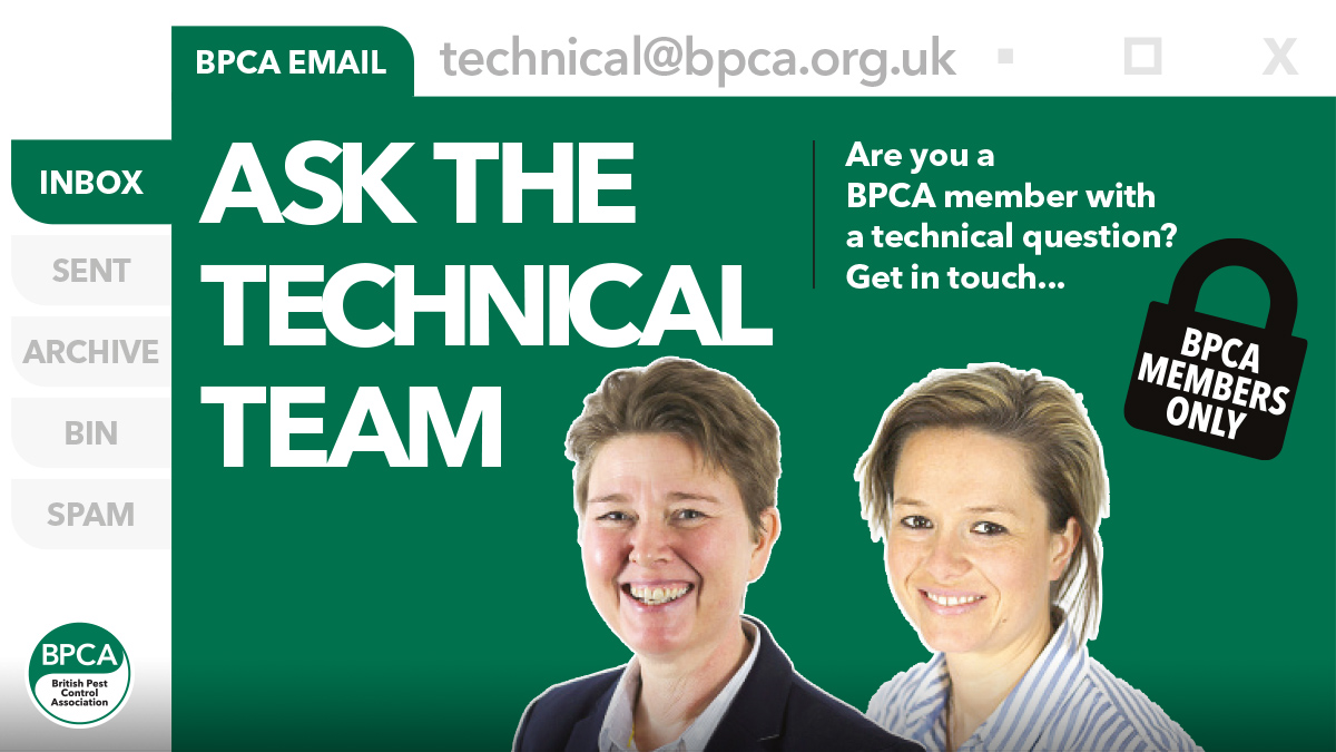 Ask the technical team anything if you are a BPCA member pest control questions answered