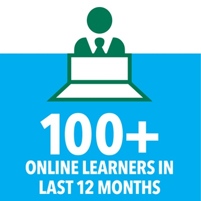 100plus learner in the last 12 months
